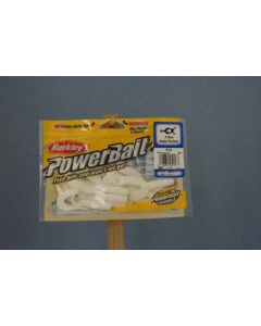 """Berkley PowerBait 3"""" Double Tail Grub ~ White"""