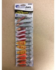 """Compac Assorted Trophy Spoon Lures ~ 2-1/4"""" ~ 12 per card"""