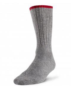 Robust Wool Work Sock - Grey / Red ~ Size Medium