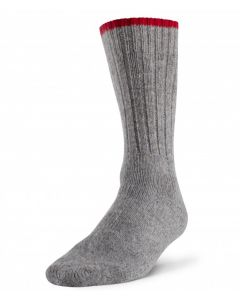 Robust Wool Work Sock - Grey / Red ~ Size Large