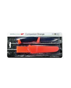 Morakniv Companion Fl. Orange Fixed Blade Knife with Plastic Sheath