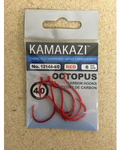 Kamakazi Red Octopus Hooks ~ Size 4/0