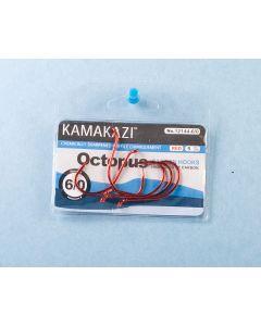 Kamakazi Red Octopus Hooks