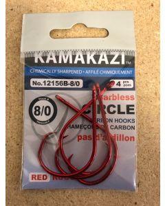 Kamikazi Barbless Circle Hook - Red
