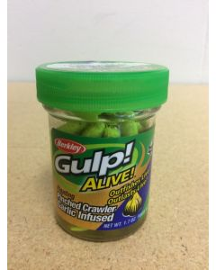 """Berkley Gulp! Alive 2"""" Floating Pinched Crawler ~ Chartreuse"""