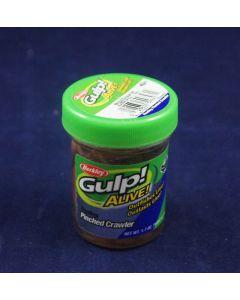 "Berkley Gulp! Alive 2"" Floating Pinched Crawler ~ Nightcrawler"