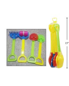 Beach Sand Tools in Net Bag ~ 4 pieces
