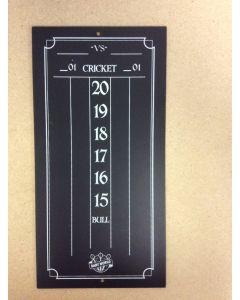"""Cricketeer Chalkboard Scorekeeper ~ 7.75"""" x 15.5"""""""