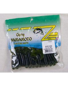 """Yamamoto 5"""" Single Tail Grub ~ Watermelon No Flake"""