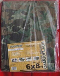 Camouflage Tarp ~  6' x 8'