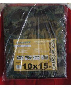 Camouflage Tarp ~  10' x 15'