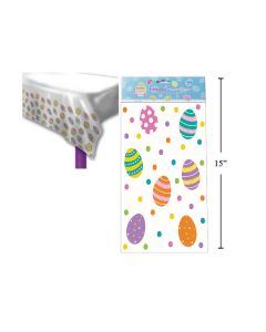 """Easter Plastic Tablecover - 54"""" x 72"""""""