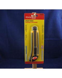 Utility Knife w/3 Blades in cartridge & cushion grip