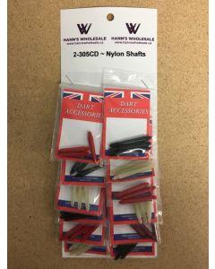Nylon Shafts ~ 12 per card