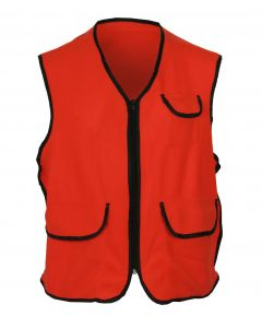 Kid's Fluorescent Orange Fleece Vest w/Zipper Closure