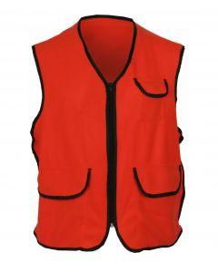 Fluorescent Orange Fleece Vest w/Zipper Closure