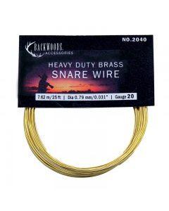 Brass Snare Wire ~ 20 gauge / 25'