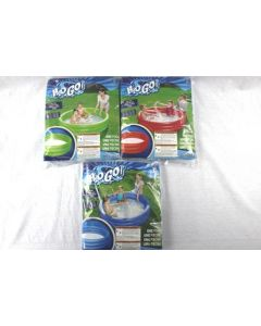 """Inflatable Solid Bright Colors 3-Ring Pool ~ 60"""" x 12"""""""