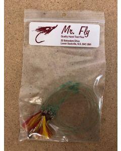 Mr Fly Mackerel Rigs - RED/YELLOW ~ 6 per string