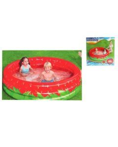 """Strawberry Inflatable 3-Ring Pool ~ 63"""" x 15"""