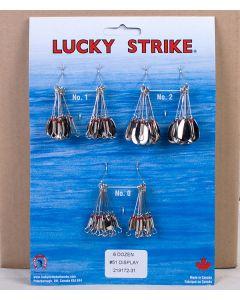 Lucky Strike #51 - Single Nickel Oval Spinners ~ 6 dozen per display