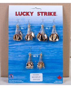 Lucky Strike #52 - Single Gold Oval Spinners ~ 6 dozen per display