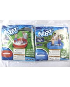"""Inflatable Solid Bright Colors 3-Ring Pool ~ 48"""" x 10"""" {51025}"""