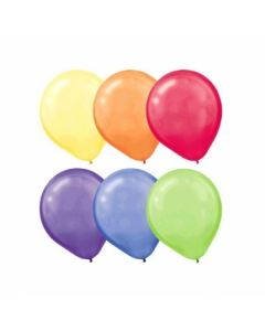 """Assorted Color Round Balloons - 12"""" ~ 10 per pack"""