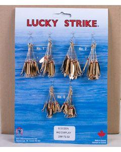 Lucky Strike #42 - Single Gold Willowleaf Spinners ~ 6 dozen per display