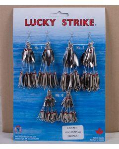 Lucky Strike #141 - Double Nickel Willowleaf Spinners ~ 6 dozen per display