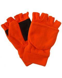 Fl. Orange Polar Fleece Glove - Mitt