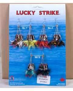 Lucky Strike #74 - Single Oval Spinner w/Fly ~ 3 dozen per display
