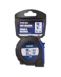 """ROK Tape Measure - Heavy Duty with Rubberized Case ~ 1-1/4"""" / 16'"""