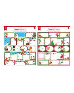 Christmas Self Adhesive Glitter Gift Tags ~ 40 per pack