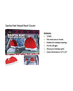 Christmas Santa Hat Head Rest Covers ~ 2 per pack