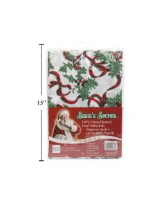 """Christmas Flannel Back Tablecover - Square ~ 55"""" x 55"""""""