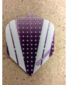 Target Vision Flights ~ White Stripes on Purple