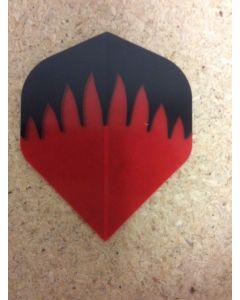 Polyester Flights ~ Red & Black