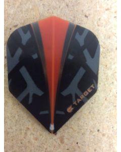 Target Vision Flights ~ Black with Orange