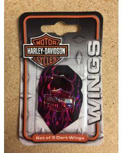 Harley Davidson Flights ~ Harley Davidson with Pink Flames