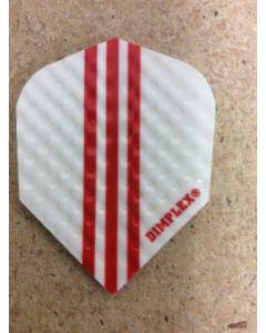 Dimplex Flight ~ White w/Red Stripes