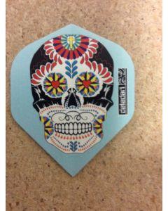 BD Flight ~ Decorated Skull on blue - DIS