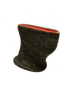 Adult Acrylic Reversible Knitted Camo/Fl. Orange Neck Warmer