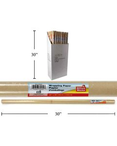 "Kraft Wrapping Paper ~ 30"" x 8' per roll"