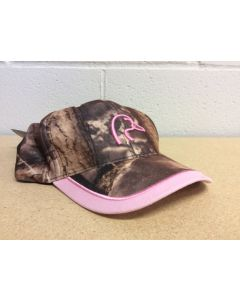 Ladies Camo Ball Cap w/Pink on Peak