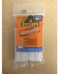 """Gorilla Hot Glue Sticks for Glue Guns - 4"""" Mini ~ 30 per pack"""