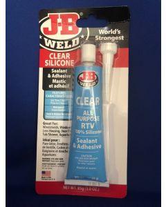 J-B Weld Silicone Sealant & Adhesive - CLEAR ~ 3oz (85gram) tube