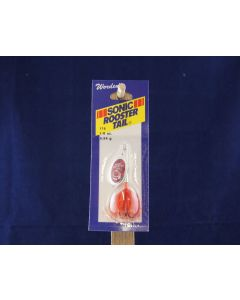 Sonic Rooster Tail - 1/8oz ~Silver Flame Mylar