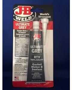 J-B Weld Silicone Gasket Maker & Sealant - ULTIMATE GREY ~ 3oz (85gram) tube