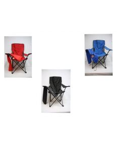 High Back Folding Chair with Cup Holder in Carrying Bag